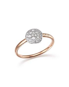 Pomellato - Sabbia Ring with Diamonds in 18K Rose Gold