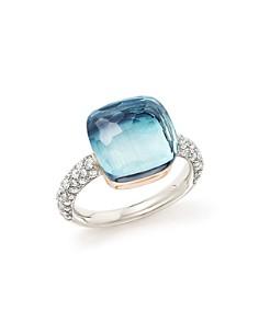 Pomellato Nudo Maxi Gemstone & Diamond Ring in 18K White & Rose Gold - Bloomingdale's_0