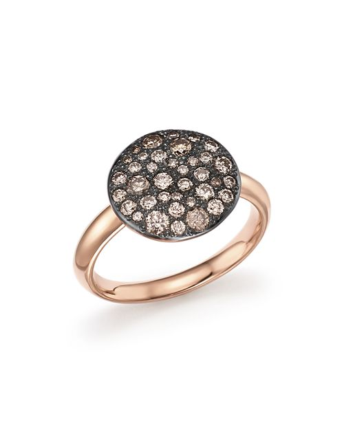 Pomellato - Sabbia Ring with Brown Diamonds in Burnished 18K Rose Gold