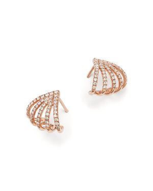 Diamond Micro Pave Earrings in 14K Rose Gold, .40 ct. t.w.