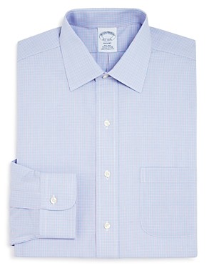 Brooks Brothers Twin Check Regent Classic Fit Dress Shirt