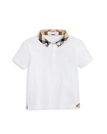 Burberry - Boys' Mini William Check Collar Polo Shirt - Baby