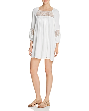 Joie Tabara Lace-Inset Mini Dress