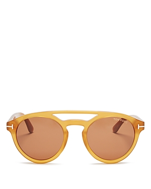 Tom Ford Clint Round Sunglasses, 50mm