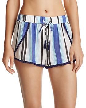 Surf Gypsy - Stripe Split Leg Cover-Up Shorts