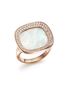 Roberto Coin - 18K Rose Gold Carnaby Street Diamond and Mother-Of-Pearl Ring