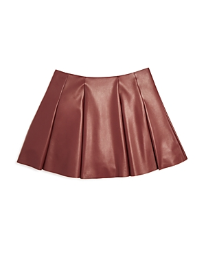 Aqua Girls Faux Leather Mini Skirt Big Kid  100 Exclusive