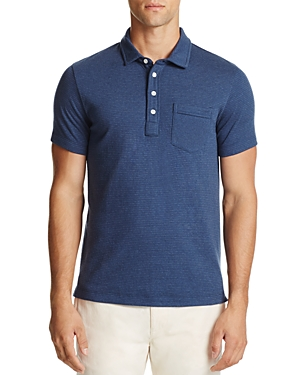 Billy Reid Patterson Stripe Slim Fit Polo Shirt
