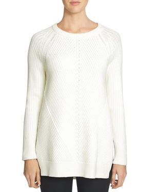 1.state Ribbed Tunic Sweater