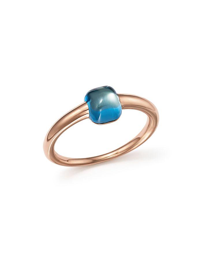 Pomellato - M'Ama Non M'Ama Ring with London Blue Topaz in 18K Rose Gold