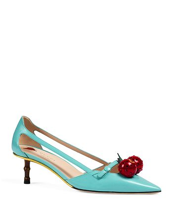 Gucci - Women's Cherry Pointed Toe Pumps