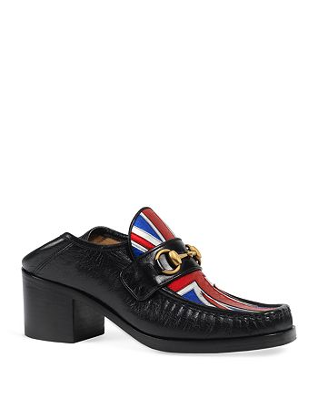 Gucci - Women's Vegas Leather Mid Heel Loafers