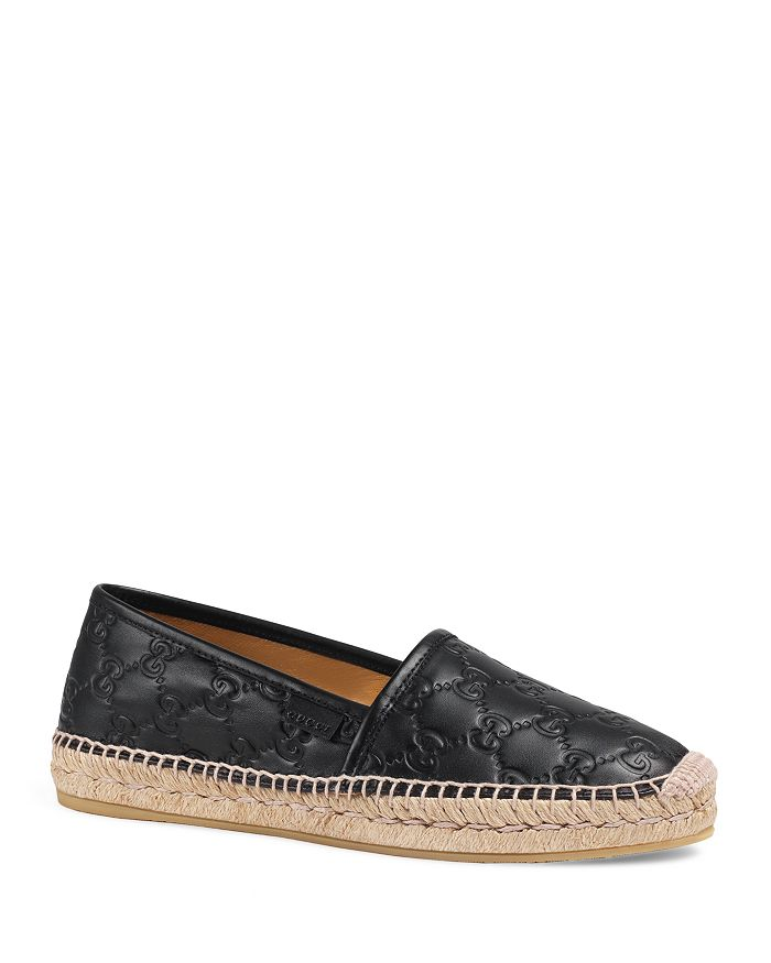 43f62fabac7 Gucci - Women s Pilar Leather Espadrille Flats