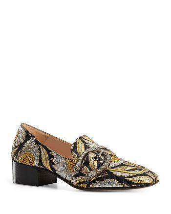 Gucci - Women's Dionysus Brocade Mid Heel Loafers