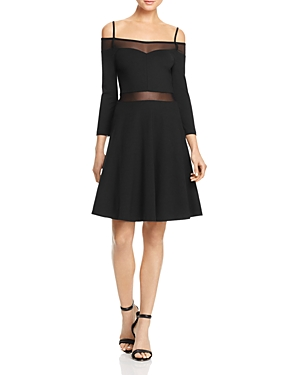 French Connection Tatlin Beau Cold-Shoulder Dress