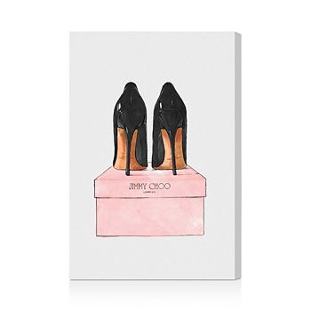 """Oliver Gal - Night Out Stilettos Wall Art, 10"""" x 15"""""""