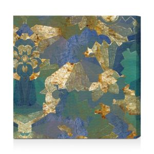 Oliver Gal Turquoise Deco Wall Art, 20 x 20