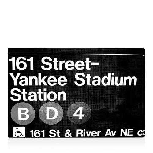 "Oliver Gal - Yankee Stadium Night Wall Art, 30"" x 20"""