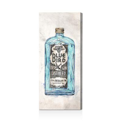 """Blue Bird Gin Wall Art, 12"""" x 30"""""""