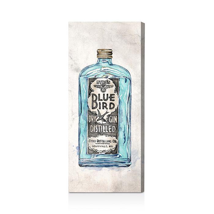 "Oliver Gal - Blue Bird Gin Wall Art, 12"" x 30"""