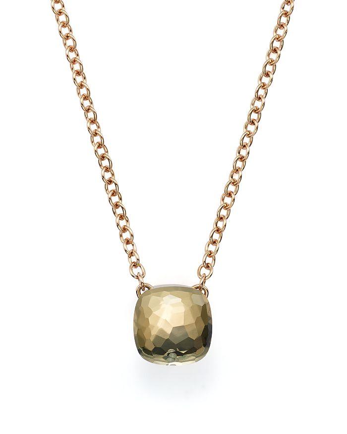 Pomellato - Nudo Necklace with Prasiolite in 18K Rose and White Gold