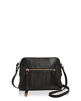 3c87bc8102  Foley and Corinna Ella Woven Leather Crossbody - Bloomingdale s