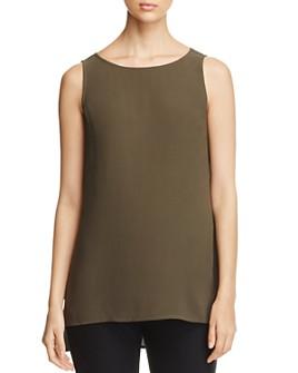Eileen Fisher Petites - High/Low Silk Tank, Regular & Petite