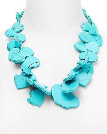 BAUBLEBAR - Seaglass Bib Necklace, 22""