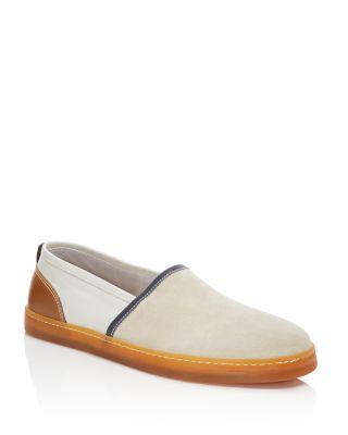 GEORGE BROWN Baldwin Color Block Slip On Sneakers in Cement Gray