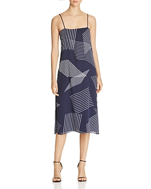 Dkny Embroidered Slip Dress