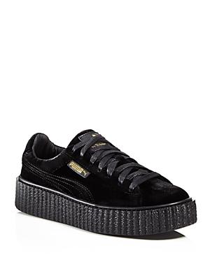 more photos e5931 4a002 Fenty Puma X Rihanna Women'S Velvet Lace Up Creeper Sneakers, Black