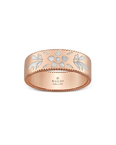 Gucci 18K Pink Gold Mystic White Icon Blooms Ring - Bloomingdale's_0