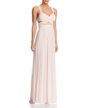 Aqua V-Neck Illusion Lace Inset Gown - 100% Exclusive