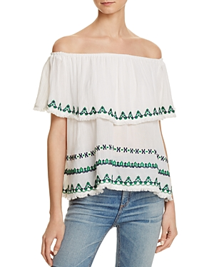 Piper Embroidered Off-the-Shoulder Top - 100% Exclusive