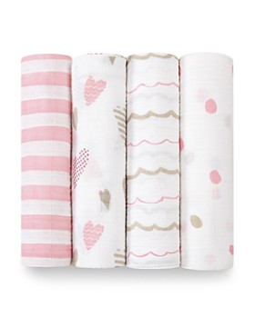Aden and Anais - Heart Breaker Swaddles, 4 Pack
