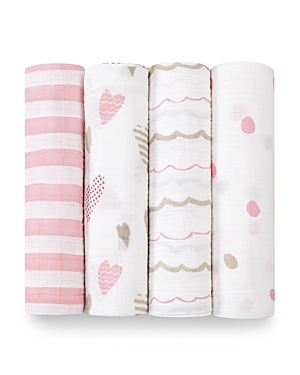 Aden and Anais Heart Breaker Swaddles, 4 Pack