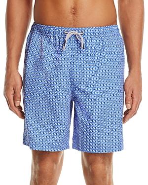 Michael Kors Geometric Print Swim Trunks