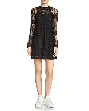 Maje Rossa Mixed-Lace Dress