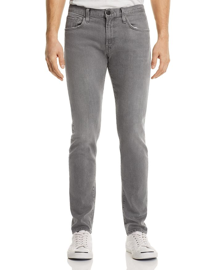 J Brand - Tyler Taper Athletic Fit Jeans in Gray Luna
