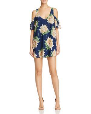 Show Me Your MuMu Birdie Cold Shoulder Floral Dress