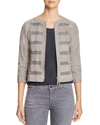 Armani - Sheer Inset Suede Jacket