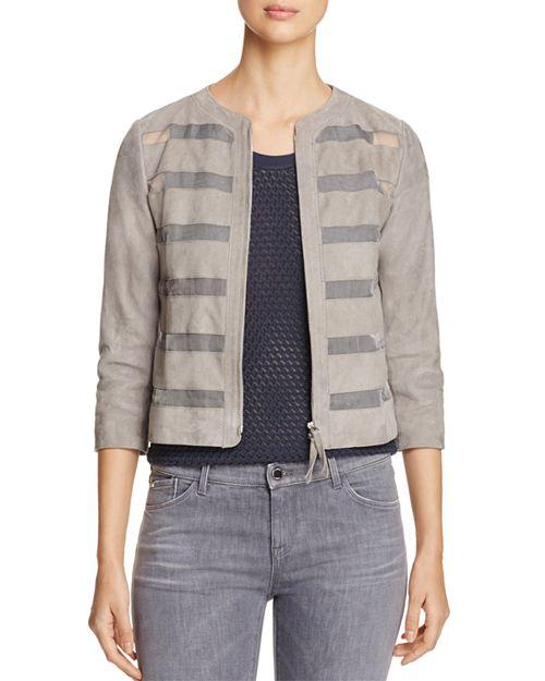 Armani Collezioni - Sheer Inset Suede Jacket