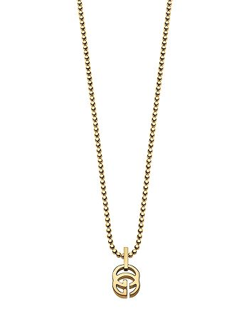 """Gucci - 18K Yellow Gold Running G Necklace, 17.71"""""""