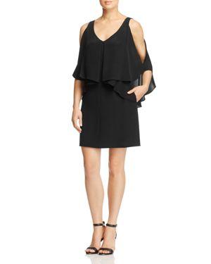 Kobi Halperin Robin Ruffle-Overlay Silk Dress