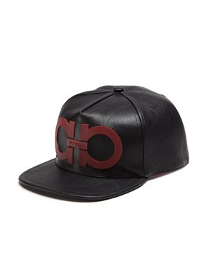 Salvatore Ferragamo Gancini Vegan Leather Cap