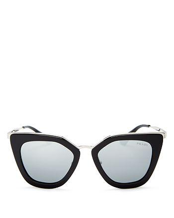 Prada - Women's Mirrored Cat Eye Sunglasses, 52mm