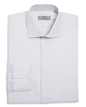 Canali Textured Ground Regular Fit Dress Shirt