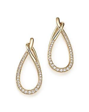 Diamond Micro Pave Loop Drop Earrings in 14K Yellow Gold, .30 ct. t.w. - 100% Exclusive