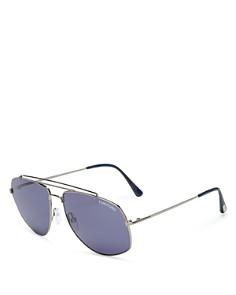 Tom Ford - Men's Georges Mod Brow Bar Aviator Sunglasses, 59mm