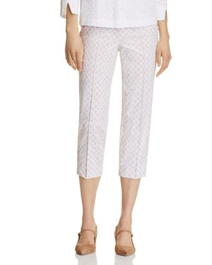 Basler Printed Cropped Pants